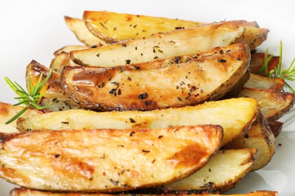 Garlic and Herb Potato Wedges