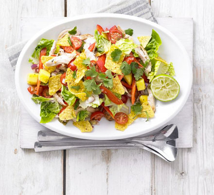 Spicy chicken mango and jalapeño salad