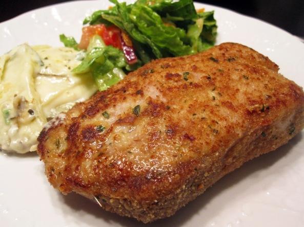 Breaded baked Pork steak