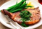 Chargrilled T-bone Steak With Chimichurri Sauce