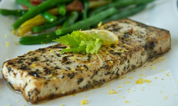 Fried Swordfish Steaks with Herbs