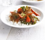 Speedy lamb and spinach curry