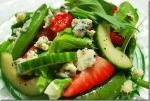 Cucumber pea salad