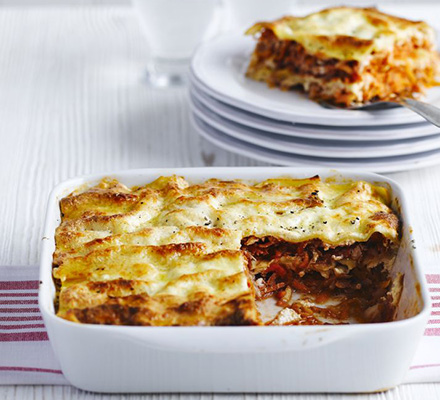 Root veg and ricotta lasagne