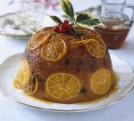 Sticky orange and marsala pudding