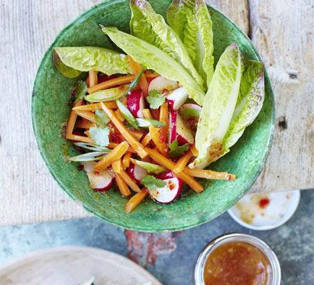 Thai carrot and radish salad
