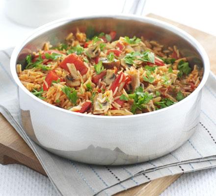 Mushroom and rice