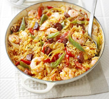 Spanish rice and prawn