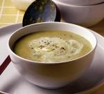 Broad bean, yogurt and mint soup