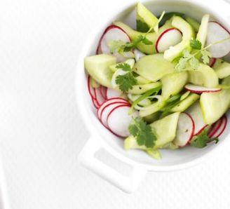 Pickled radish and cucumber salad