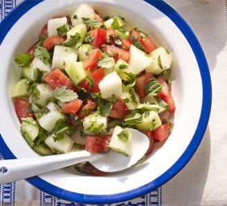 Tomato and melon salad